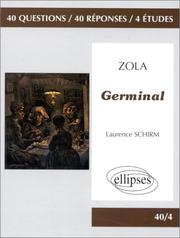 Cover of: Zola, Germinal