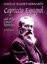 Cover of: Capriccio Espagnol and Other Concert Favorites in Full Score