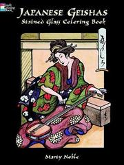 Cover of: Japanese Geishas Stained Glass Coloring Book | Marty Noble