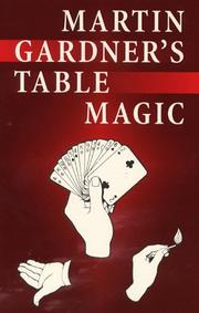 Cover of: Martin Gardner's table magic