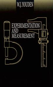 Cover of: Experimentation and measurement