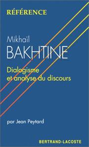 Cover of: Mikhaïl Bakhtine
