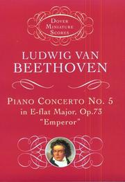 Cover of: Piano concerto no. 5 in E flat major