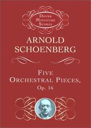 Cover of: Five Orchestral Pieces | Arnold Schoenberg