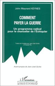Cover of: Comment payer la guerre