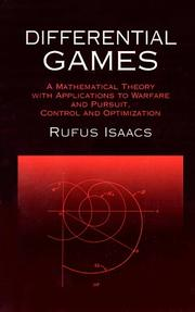 Cover of: Differential games