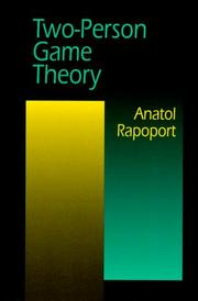 Cover of: Two-person game theory