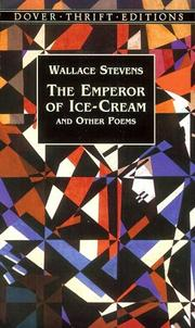 Cover of: The emperor of ice-cream, and other poems