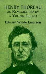 Cover of: Henry Thoreau as remembered by a young friend