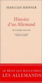 Cover of: Histoire d'un Allemand by Sebastian Haffner