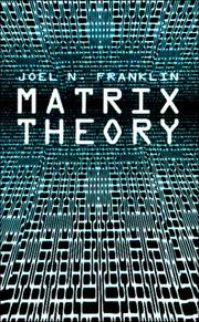 Cover of: Matrix theory