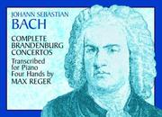 Cover of: Complete Brandenburg Concertos Transcribed for Piano Four Hands