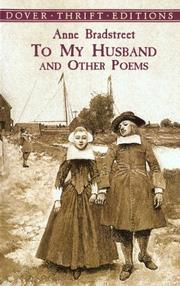 Cover of: To my husband and other poems
