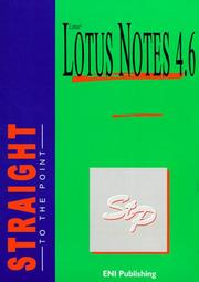 Cover of: Lotus Notes 4.6 Straight to the Point | Marie-Laure Texier