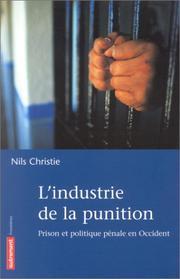 Cover of: L'industrie de la punition