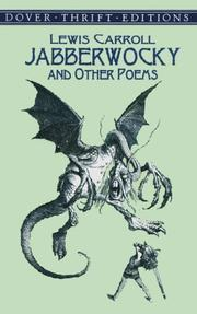 Cover of: Jabberwocky, and other poems