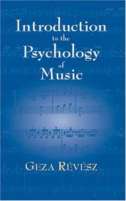 Cover of: Introduction to the Psychology of Music | Geza Revesz