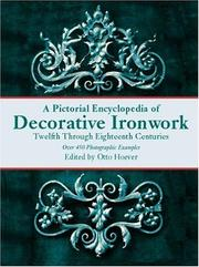 Cover of: Pictorial Encyclopedia of Decorative Ironwork | Otto Hoever