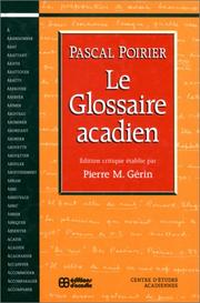 Cover of: Le glossaire acadien