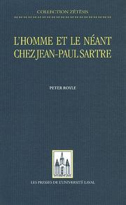 Cover of: L'Homme Et Le Neant Chez Jean-Paul Sartre (Collection Zetesis)