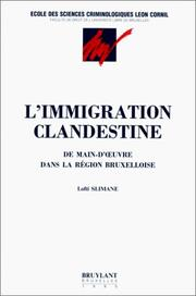 Cover of: L'immigration clandestine by Slimane