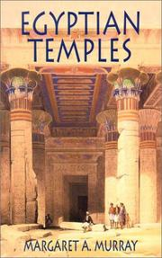 Cover of: Egyptian temples | Margaret Alice Murray