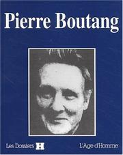 Cover of: Pierre Boutang