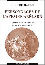 Cover of: Personnages de l'affaire abelard