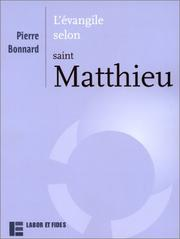 Cover of: L'Evangile selon saint Matthieu