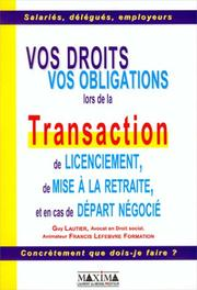 Cover of: Transactions de licenciement