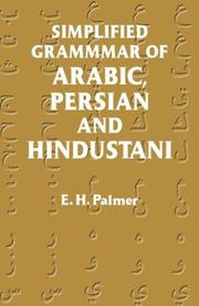 Cover of: Simplified grammar of Arabic, Persian, and Hindustani