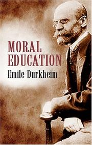 Education morale by Émile Durkheim