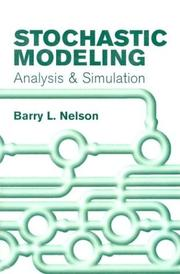 Cover of: Stochastic modeling