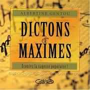 Cover of: Dictons et maximes