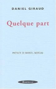 Cover of: Quelque part
