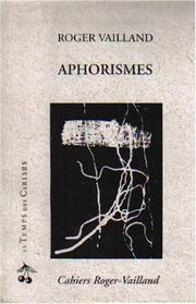 Cover of: Les aphorismes