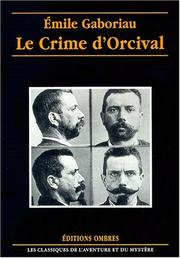 Cover of: Le crime d'Orcival