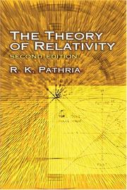 Cover of: The theory of relativity