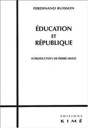 Cover of: Education Et Republique