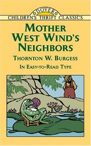 Cover of: Mother West Wind's neighbors