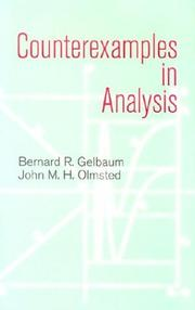 Cover of: Counterexamples in analysis |