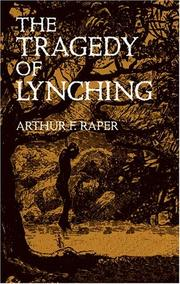 Cover of: The tragedy of lynching