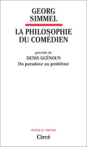 Cover of: Philosophie du comedien