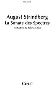 Cover of: La Sonate des spectres