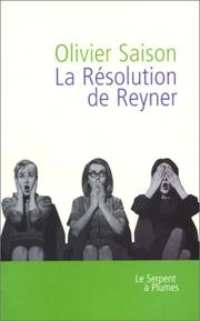 Cover of: La résolution de Reyner