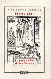 Cover of: Japoneries d'automne