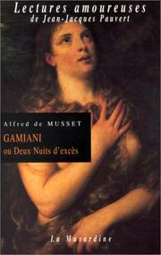 Cover of: Gamiani ou Deux Nuits d'excès