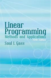 Cover of: Linear programming: methods and applications