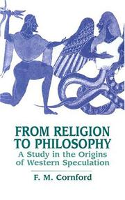 Cover of: From religion to philosophy