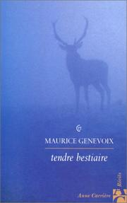 Cover of: Tendre bestiaire